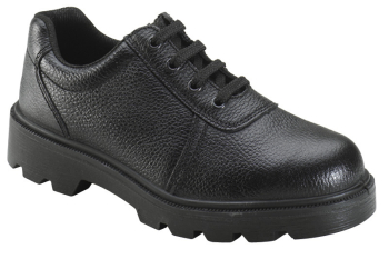 Black Grain Leather 4 Eyelet Gibson Shoe Unisex
