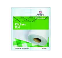 Jangro Kitchen Towels White 2ply (24x45sh)