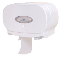 Twin Dispenser for Standard Toilet Roll - Plastic
