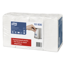 Dispenser Napkin 25cm x 30cm, White 1 ply