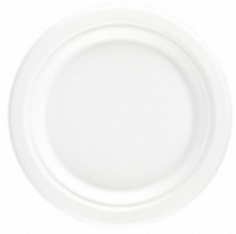 Bagasse Round Plate White 9inch CTNx500
