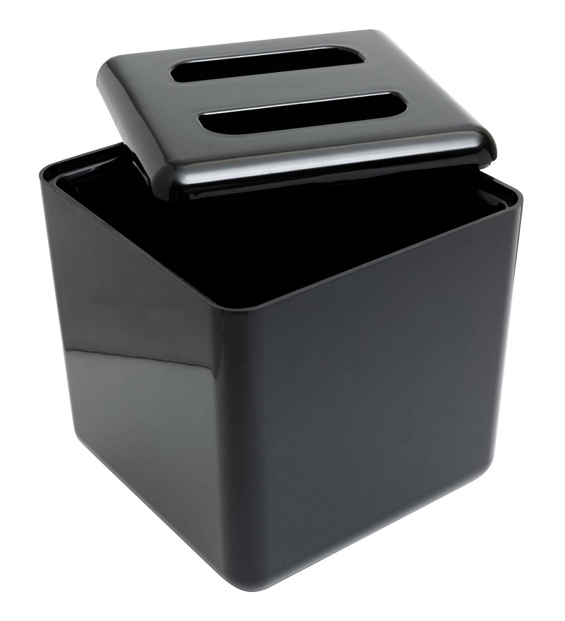 Ice Buckets Black Square 4Ltr