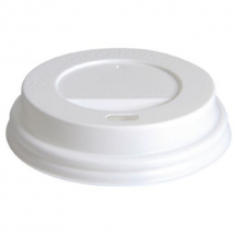 Domed Hot Cup Lid White 8-9oz CTNx1000