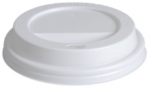 Domed Hot Cup Lid White 12-16oz CTNx1000