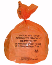 Orange Clinical Waste Bag 18x29x39inch Heavy Duty CTNx100