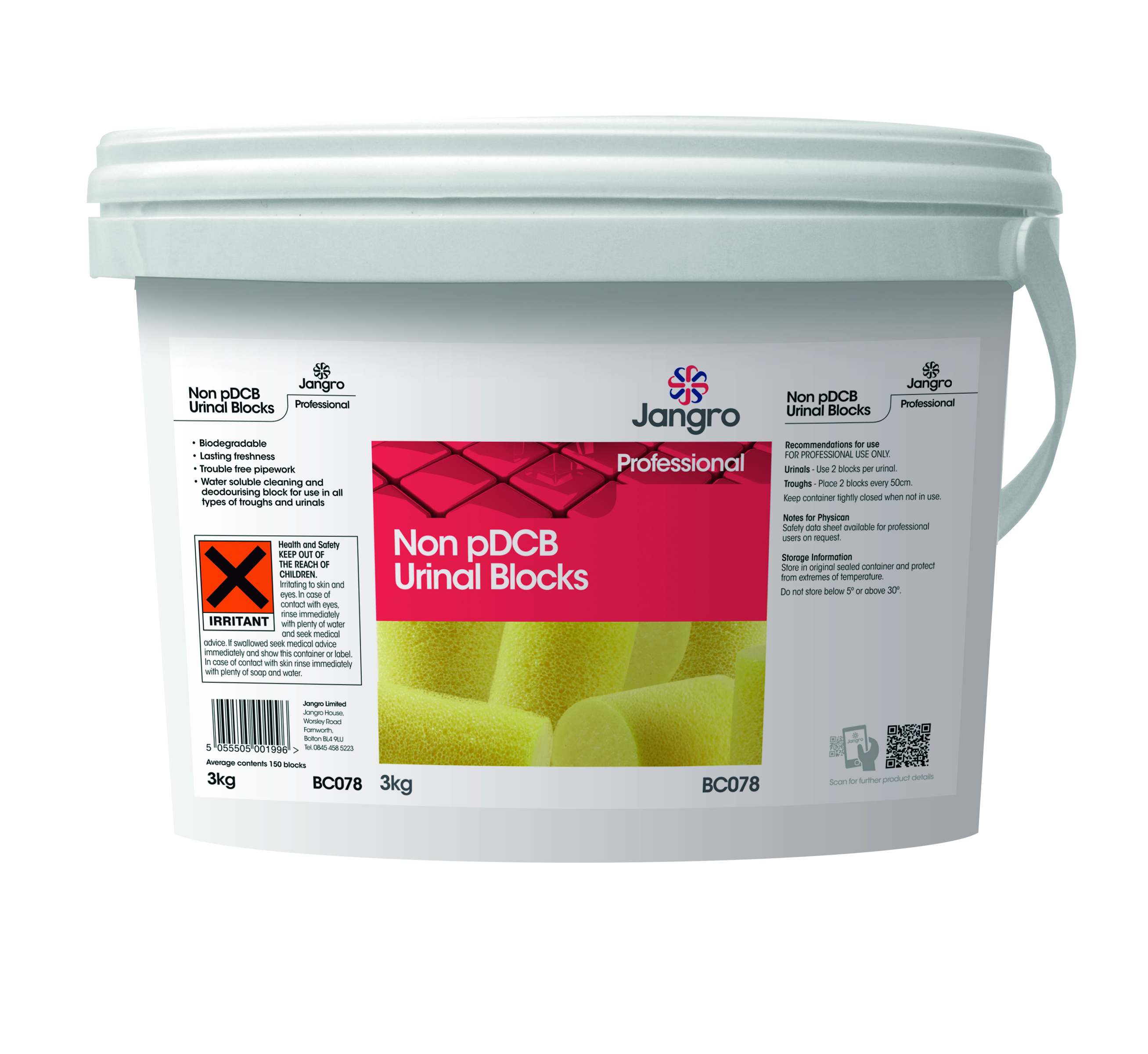 Jangro Non - PDCB Toilet Blocks 3Kg
