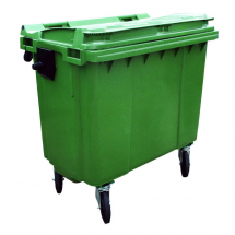 Large Wheelie Bin - Green 660 Litre
