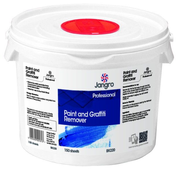 Paint and Graffiti Remover Wipes Sheet Tub of 100