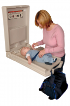 Vertical Baby Changing Station