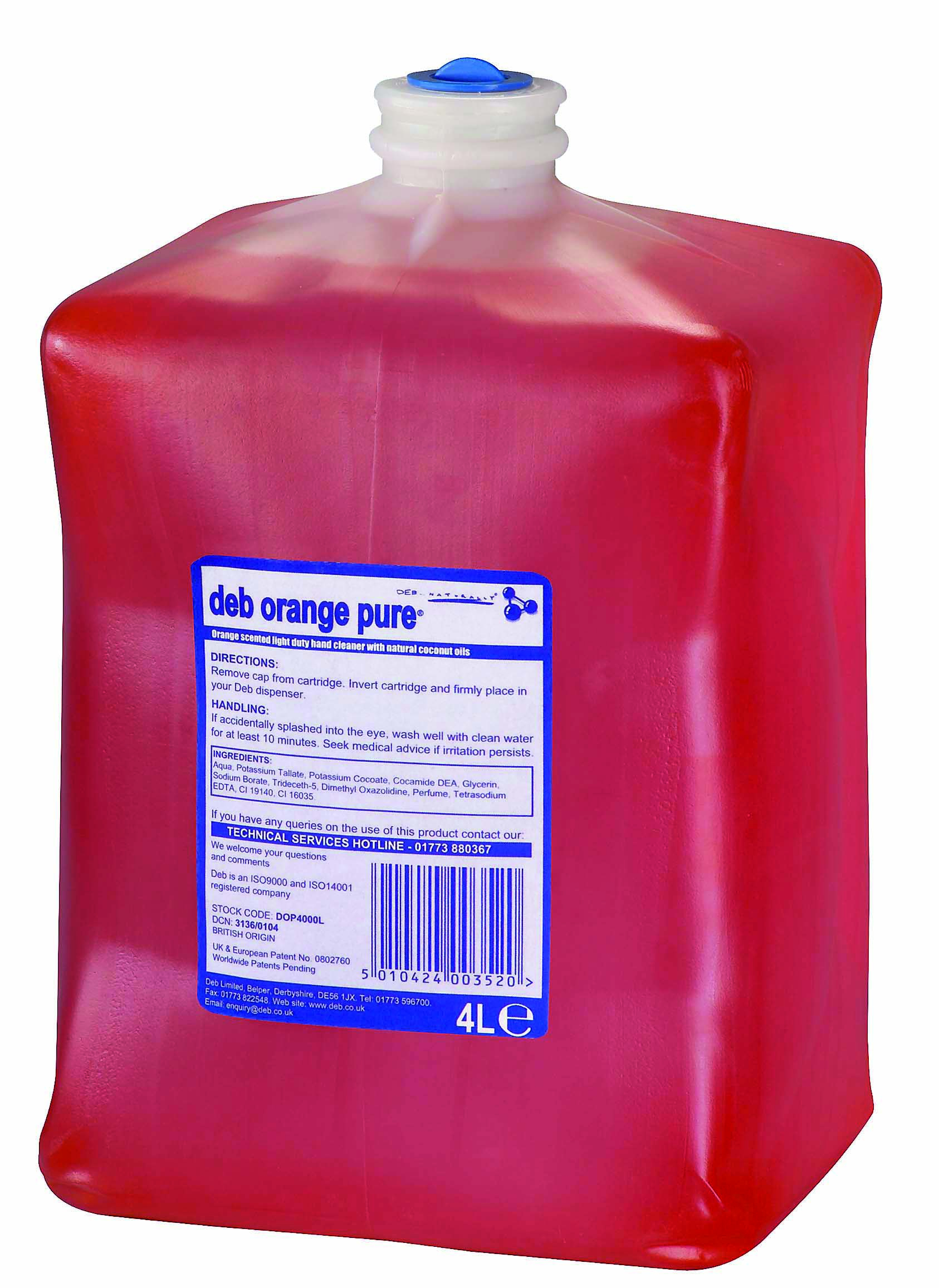Deb Orange Pure 4 Litre