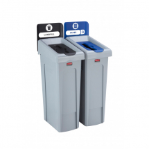 Slim Jim Recycling Station 2 Stream - Black/Blue