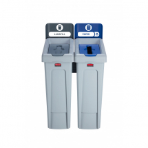 Slim Jim Recycling Station 2 Stream - Grey/Blue