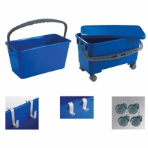 Window Cleaners Bucket with Castors & Hangers. 24 Litres