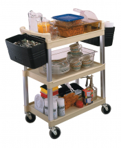 Utility Cart 3 Tier Beige - Plastic Shelves
