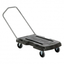 Triple Trolley Cart Black 82cmx52.1cm 113.4 kg Capacity