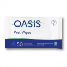 Oasis Moist Wipes, 50 pack 33x22cm