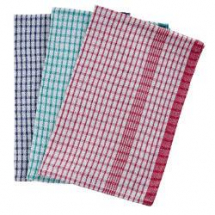 Rice Weave Check Tea Towels 20x30inch (10)