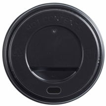 Black Domed Sip-Thru Lid Black 8oz CTNx1000