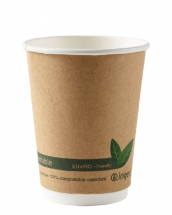 Kraft Compostable Double Wall Cups 12oz CTNx500