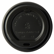 Compostable Black Domed Sip - Tru Lid 8oz CTNx1000