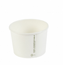 8oz PLA White Biodegradable Soup Container 280ml CTNx1000