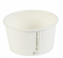 12oz PLA White Biodegradable Soup Container CTNx500