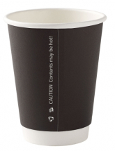 8oz Black Double Wall Cup CTNx500