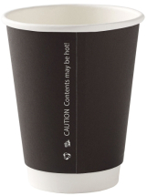 12oz Black Double Wall Cup CTNx500