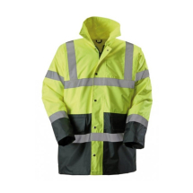 Hi-Vis Coat, Yellow/Navy Size Large