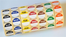 Daydots Food Labels - Monday 1000 per roll