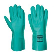 Green Nitrile Gauntlet Glove - Large pair