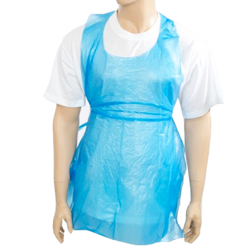 Roll of Plastic Aprons 27x46inch - Blue