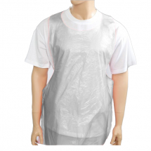 Roll of Plastic Aprons 27x46inch - White