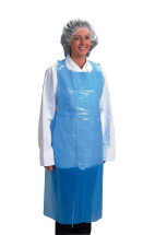 Disposable Aprons 69cmx102cm Flat Packed Blue 8mu CTNx100