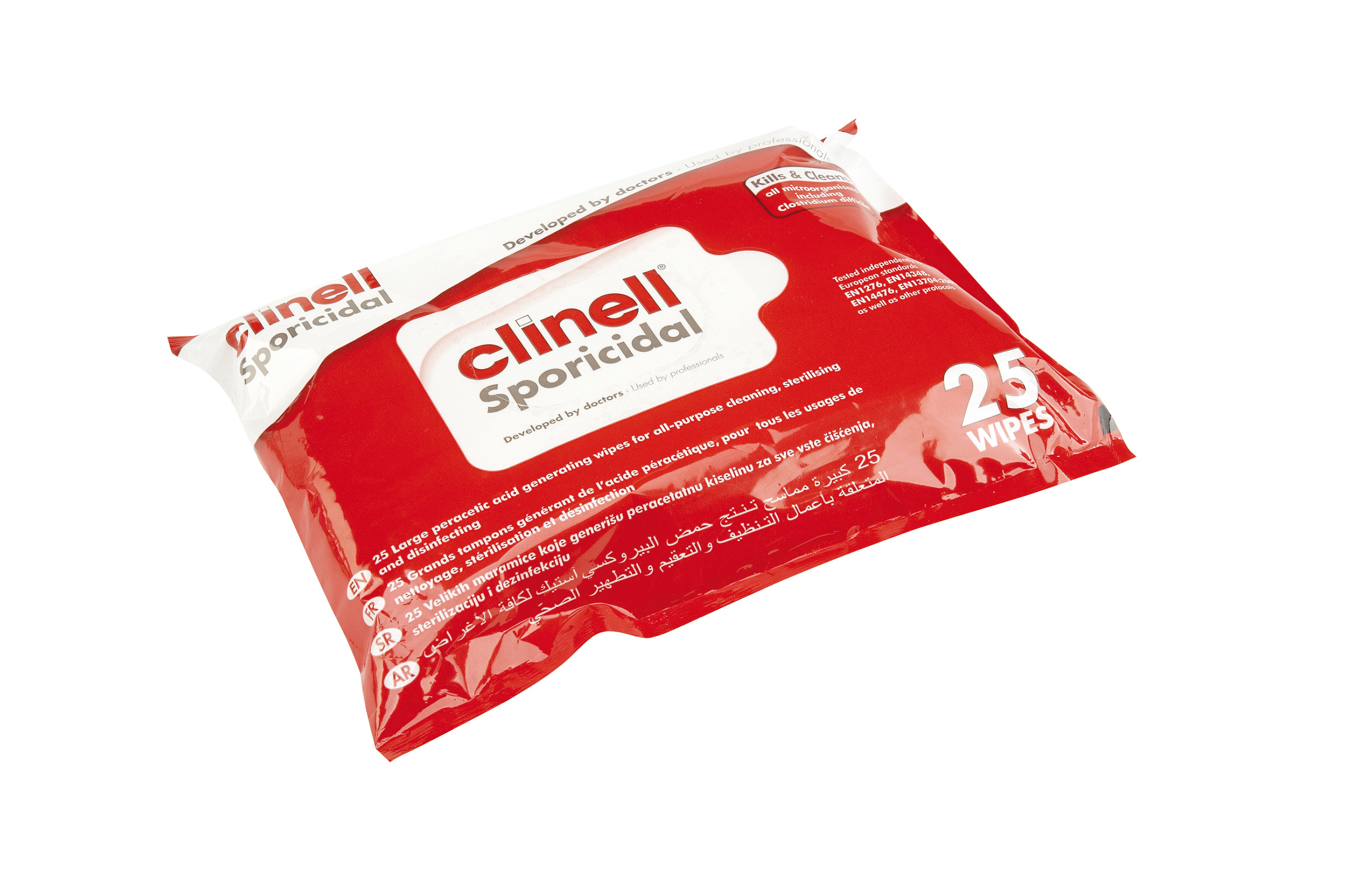 Clinell Sporicidal Wipes - 25 Wipes