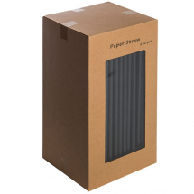 Paper Black Straw 8inch Box of 250 Straws