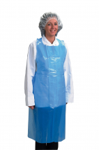 Plastic Apron 27inch x 46inch - Blue Pack of 100