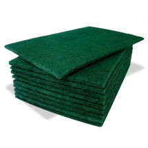 Contract Green Scouring Pad 230x150mm/9x6inch Pack of 10