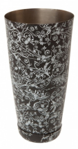 Patterned Boston Shaker Can Black