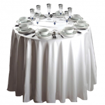 Polyester Tablecloth 88inch White