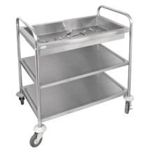Vogue Deep Tray Clearing Trolley 855x535x940mm