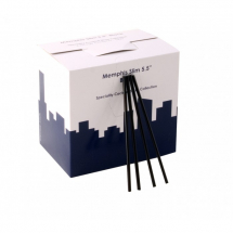 Memphis Slim Straw 5.5inch Black 4.3mm Box of 1000